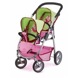 BAYER DESIGN Wózek podwójny dla lalek kolor różowo-zielony2654500