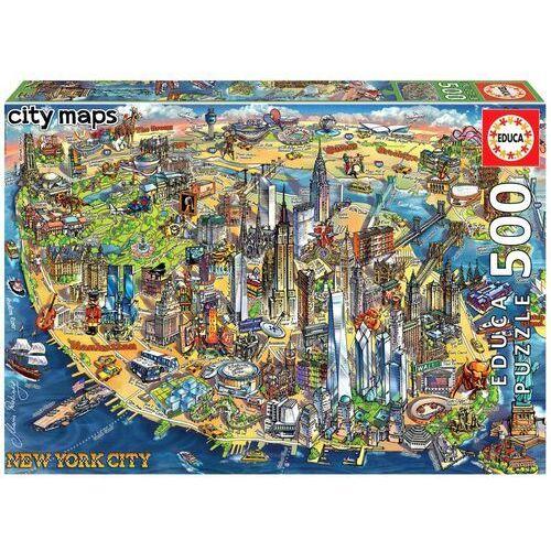 Puzzle, Puzzle 500 Elementów Mapa New York