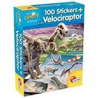 Pozostałe zabawki, I'm a Genius Dino 100 Stickers Velociraptor