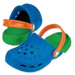 Crocs Kids Electro Sea Blue Lime Niebiesko-zielone klapki dla dzieci Różne rozmiary
