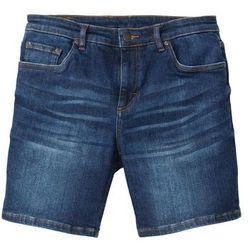 """Długie szorty dżinsowe """"power-stretch"""" Slim Fit bonprix ciemnoniebieski """"stone"""