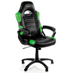 Fotel AROZZI Enzo Czarno-zielony