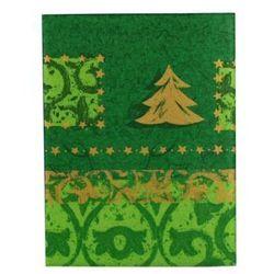 Obrus świąteczny imitujący tkaninę ( 80cm x 80cm) 17814