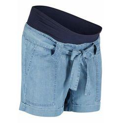 """Szorty ciążowe z lnu w optyce dżinsu bonprix niebieski """"bleached"""""""
