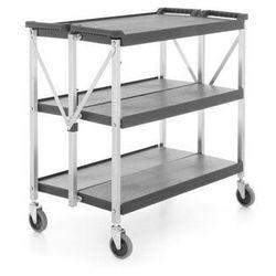 Wózek kelnerski 3-półkowy z tworzywa, składany