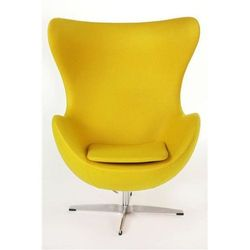 Fotel Jajo żółty kaszmir B4 Premium