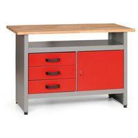 Pozostałe do warsztatu i garażu, Stół roboczy z szufladami, szafką i półką