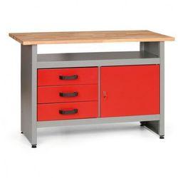 Stół roboczy HOBBY I z szufladami, szafką i półką