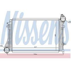 Chłodnica powietrza doładowującego - intercooler NISSENS 96619