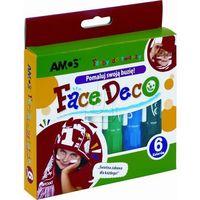 Farbki, Farby do twarzy Face Deco 6 kolorów blister AMOS