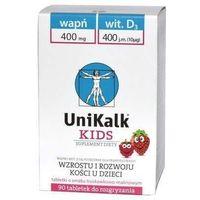 Witaminy i minerały, UniKalk Kids tabletki do rozgryzania x 90 sztuk