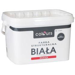 Farba strukturalna Colours Raufaza biały 5 l