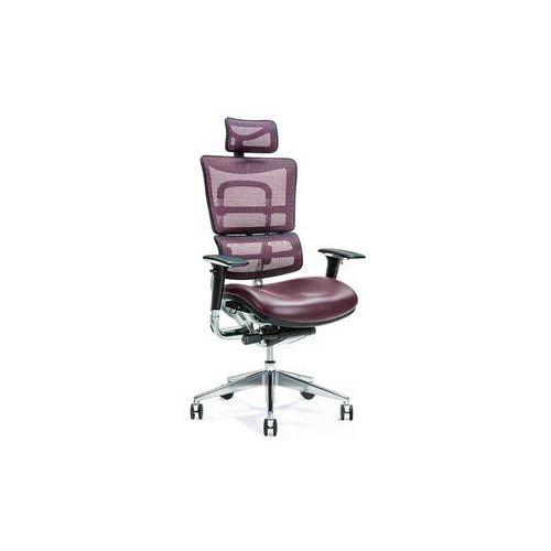 Fotele i krzesła biurowe, Ergonomiczny fotel biurowy ERGO 800 śliwkowy