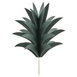 Dekoracje na muffinki Aloha - Liście Ananasa - 6 szt.