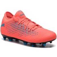 Piłka nożna, Buty PUMA - Future 19.4 Fg/Ag Jr 105554 01 Red Blast/Bleu Azur