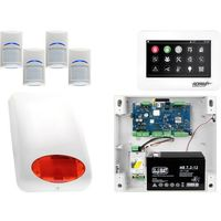 Zestawy alarmowe, Zestaw alarmowy Ropam OptimaGSM 4 x Czujka Bosch Manipulator dotykowy TPR-4WS GSM