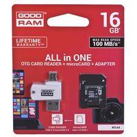 Karty pamięci, GOODRAM ALL IN ONE microSDHC 16GB Class 10+Czyt.kar - M1A4-0160R12