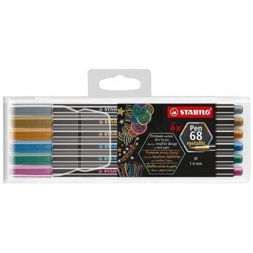 Mazaki i flamastry, Flamastry Pen metaliczne 6 kolorów etui STABILO