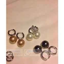 FC Kolczyki z perłą wiszące 3061221029 PM 12 kolor czarna perła