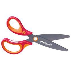 Nożyczki GRIFFIX tytanowe leworęczn 14,5cm PELIKAN - czerwone