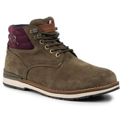 Trzewiki TOMMY HILFIGER - Outdoor Suede Hilfiger Boot FM0FM02429 Olive Night LI1