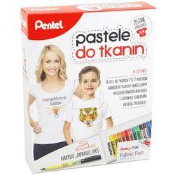 Zestaw PENTEL pastele do tkanin z koszulką + pióro