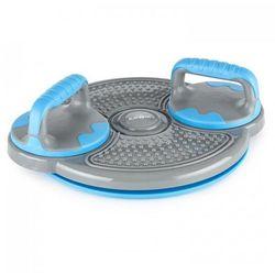KLARFIT Klartwist Power Twister 3-w-1 deska do balansowania twister obrotowy z uchwytami do pompek niebieski