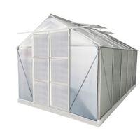 Szklarnie, Szklarnia ogrodowa z poliwęglanu 9 m² COROLLE II z podstawą - aluminium