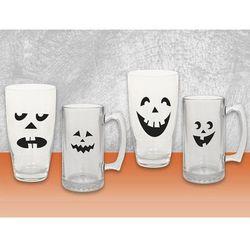 Naklejki na szklanki na Halloween - 16 elem.