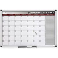 Tablice i flipcharty, Tablica planu miesięcznego, magnetyczna, 900x600 mm