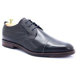 BUGATTI 312-52803-1000 CZARNE - Wizytowe buty WYPRZEDAŻ -25% (-25%)