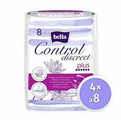 Bella wkładki dla kobiet Control Discreet Plus 4x 8 szt.