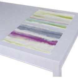 Dekoria Podkładka 2 sztuki, amarantowy, niebieski, zielony, 30x40 cm, Aquarelle