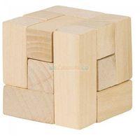 Gry dla dzieci, Drewniana kostka układanka logiczna - Goki