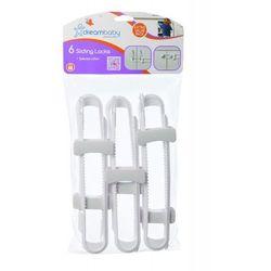 Zamknięcie przesuwane DREAMBABY PCR715P D zabezpieczające szafki (6 sztuk)