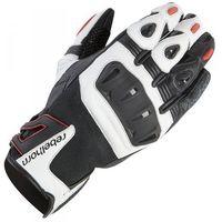 Rękawice motocyklowe, RĘKAWICE REBELHORN FLUX PRO CE WHITE/BLACK/RED
