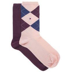 Tommy Hilfiger Set of 2 pairs of socks Czerwony Różowy 35-38 Przy zakupie powyżej 150 zł darmowa dostawa.