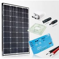Baterie słoneczne, Zestaw zasilania solarnego do Kampera - Moc 130W Maxx