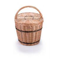 Koszyki, Wiklinowy kosz piknikowy owalny, na piknik kosz na prezent