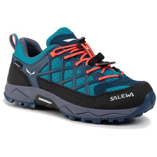 Obuwie sportowe dziecięce, Salewa Trekkingi Jr Wildfire Wp 64009-8641 Niebieski