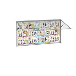 Zewnętrzna gablota, odchylane drzwi, 1600 x 1000 mm