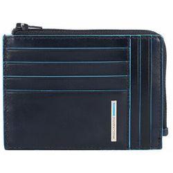 Piquadro Blue Square Etui na karty bankowe RFID skórzana 12 cm night blue ZAPISZ SIĘ DO NASZEGO NEWSLETTERA, A OTRZYMASZ VOUCHER Z 15% ZNIŻKĄ
