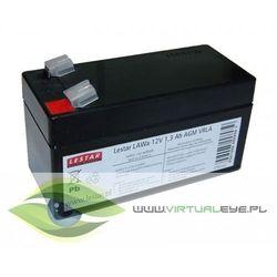 Akumulator wymienny LAWa 12V 1,3Ah AGM VRLA