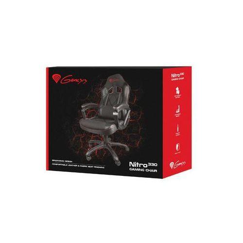 Fotele dla graczy, GENESIS FOTEL DLA GRACZA NITRO330 CZARNY NFG-0887 - odbiór w 2000 punktach - Salony, Paczkomaty, Stacje Orlen
