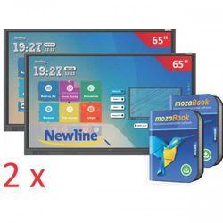 Zestaw Duet: 2x monitor interaktywny Newlinie TruTouch TT-6518RS + 2x oprogramowanie MozaBook + 2x IdeaMax - 0% Vat dla szkół!