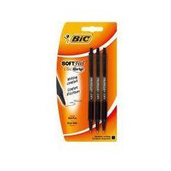 Długopis czarny Soft feel bls 3 szt BIC