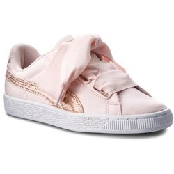 Sneakersy PUMA - Basket Heart Canvas 366495 02 Pearl/Puma White/Rose Gold