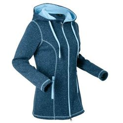 Bluza rozpinana z polaru bonprix ciemnoniebieski melanż