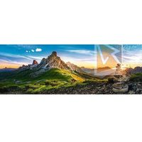 Puzzle, Puzzle Passo di Giau, Dolomity panorama 1000 dílků 97x34cm v krabici 40x13x7cm