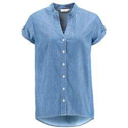 Koszula dżinsowa z krótkim rękawem bonprix jasnoniebieski